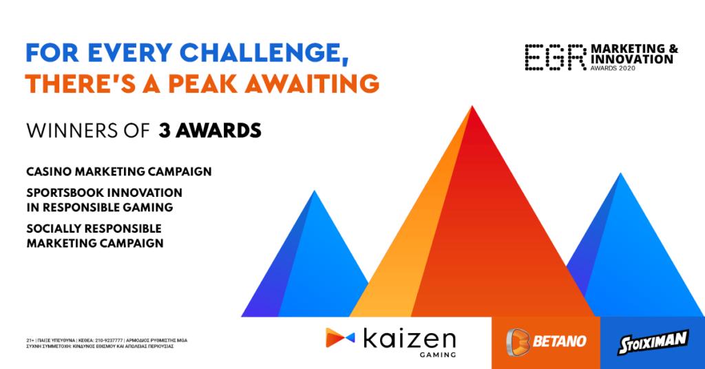Kaizen Gaming (Stoiximan/Betano) wins 3 EGR awards 2020